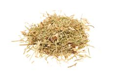 Heap of dry medical herbal tea on white background Stock Images