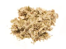 Heap of dry medical herbal tea on white background Royalty Free Stock Photography
