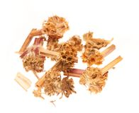 Heap of dry medical herbal tea on white background Royalty Free Stock Photos