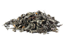 Heap of dry tea. On white background Royalty Free Stock Images