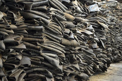 Heap of dumped old dirty inner tube. Heap of dumped old inner tube Royalty Free Stock Photos
