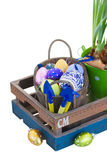 Heap of easter eggs in pot Royalty Free Stock Photo