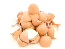Heap of egg shell Royalty Free Stock Photography