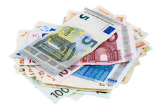 Heap of euro banknotes Stock Photography