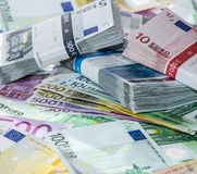 Heap of Euro Bills royalty free stock images