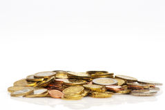 Heap of euro coins Stock Images