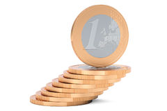 Heap of Euro Coins, 3D rendering Royalty Free Stock Photo
