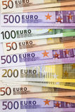 Heap of Euro Notes Stock Photography