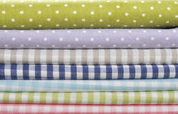 Heap of  fabrics Stock Image