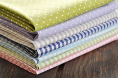 Heap of  fabrics Stock Photography