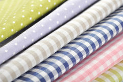 Heap of  fabrics Stock Images
