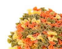Heap of farfalle pasta. Royalty Free Stock Image