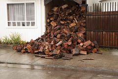 Heap of firewood Stock Image