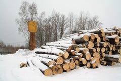 Heap firewood Stock Photo