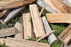 Heap of firewood Royalty Free Stock Photography