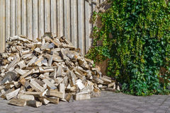 Heap of firewood Stock Photo