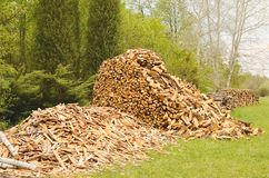 Heap of firewood Royalty Free Stock Photos