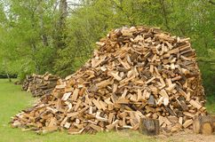 Heap of firewood Stock Images