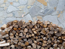 Heap of firewood Royalty Free Stock Image
