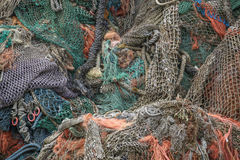 Heap of fishing nets Royalty Free Stock Photography