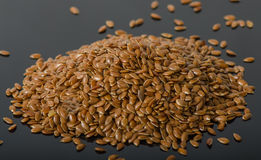 Heap of flax seeds Royalty Free Stock Photography