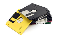 Heap of floppy disks Royalty Free Stock Image
