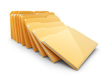 Heap of folders and files. 3D Icon isolated. On white Stock Images