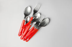 Heap of forks and spoons Royalty Free Stock Photography