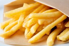 Heap of french fries stock image