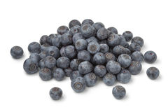 Heap of fresh blue berries. On white background stock photos