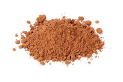 Heap of fresh cacao powder Stock Photo