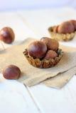 Heap of fresh chestnuts Stock Photos