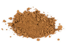 Heap of fresh cocoa powder Royalty Free Stock Images