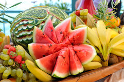 Heap of fresh colorful fruits Stock Photo