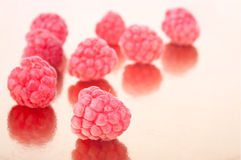 The heap of fresh crimson raspberries Stock Photography