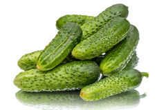 Heap fresh cucumbers Royalty Free Stock Photography