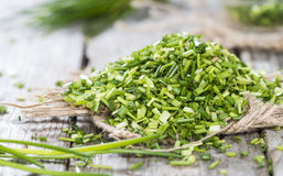 Heap of fresh cutted Chives Royalty Free Stock Images