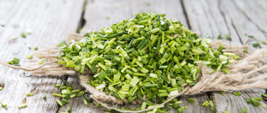 Heap of fresh cutted Chives Stock Photo