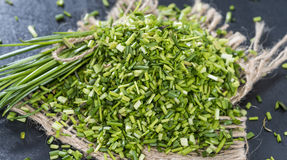 Heap of fresh cutted Chives Stock Images