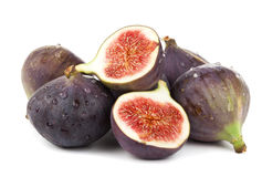 Heap of fresh figs isolated Royalty Free Stock Photo