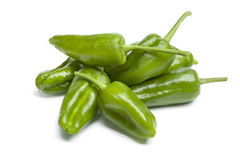 Heap of fresh green Pimientos de Padron Stock Image