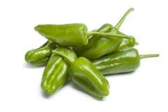 Heap of fresh green Pimientos de Padron Stock Image