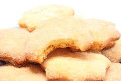 Heap of fresh homemade cookies with sugar Royalty Free Stock Images