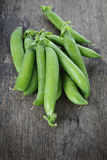 Heap of fresh pea pods Stock Photos