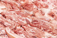 Heap of fresh raw meat food Royalty Free Stock Photos