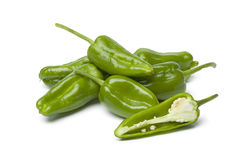 Heap of fresh raw Pimientos de Padron Royalty Free Stock Photography