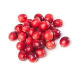 Heap of fresh red cranberries. Isolated on white background Stock Photos