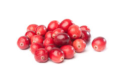 Heap of fresh red cranberries. Isolated on white background Stock Photography