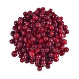 Heap of fresh red cranberries. On a white background Royalty Free Stock Photo