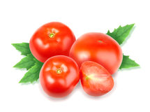 Heap of fresh red tomatos Stock Images